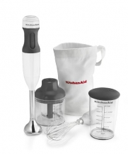 KitchenAid 3-Speed Immersion Blender in White